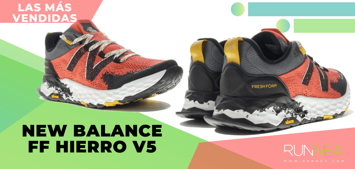 Zapatillas de trail running más vendidas del momento en tiempo de Cuarentena - New Balance Fresh Foam Hierro v5