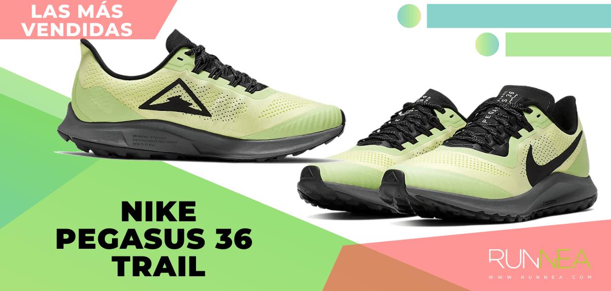 Zapatillas de trail running más vendidas del momento en tiempo de Cuarentena - Nike Pegasus 36 Trail