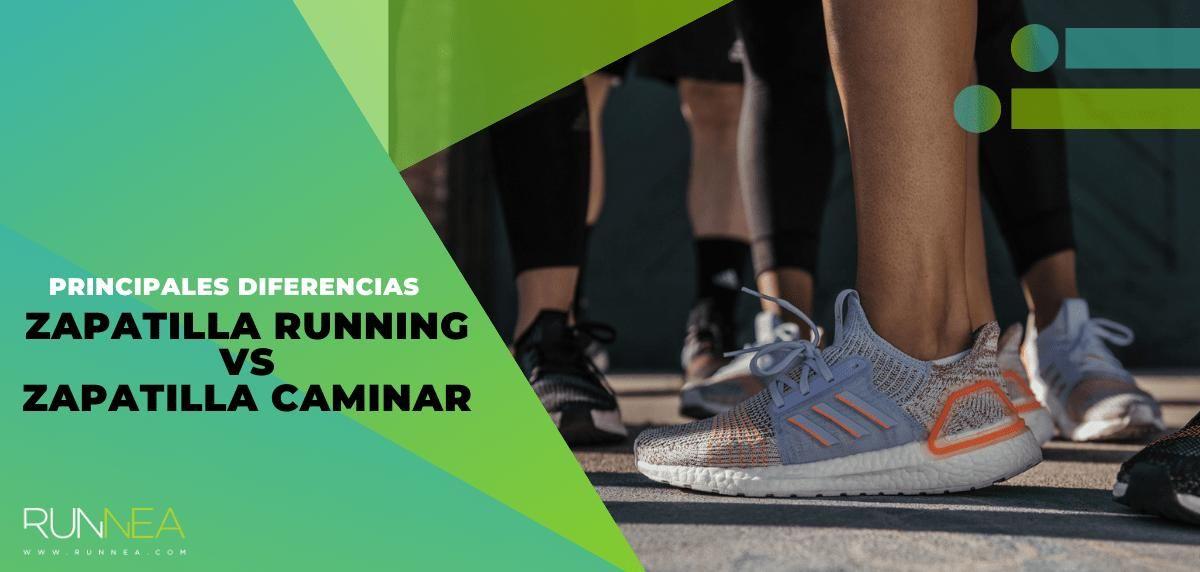 Zapatillas para correr vs zapatillas para caminar, principales diferencias