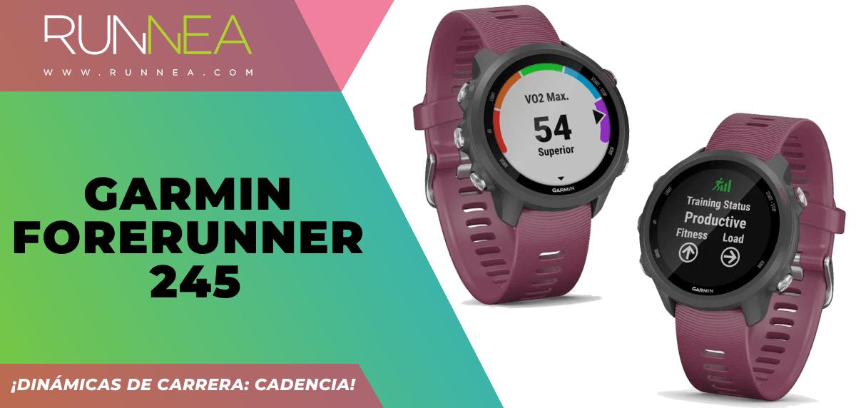3 relojes deportivos GPS que incluyen la cadencia - Garmin Forerunner 245