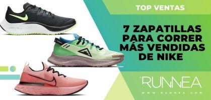 Las 7 zapatillas para correr más vendidas de Nike en su web