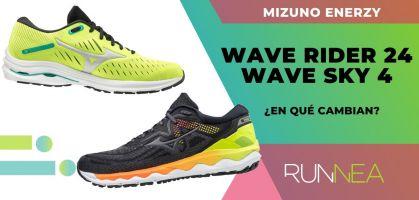 ¿En qué cambian las Mizuno Wave Rider 24 y Mizuno Wave Sky 4 con la llegada de la tecnología MIZUNO ENERZY?