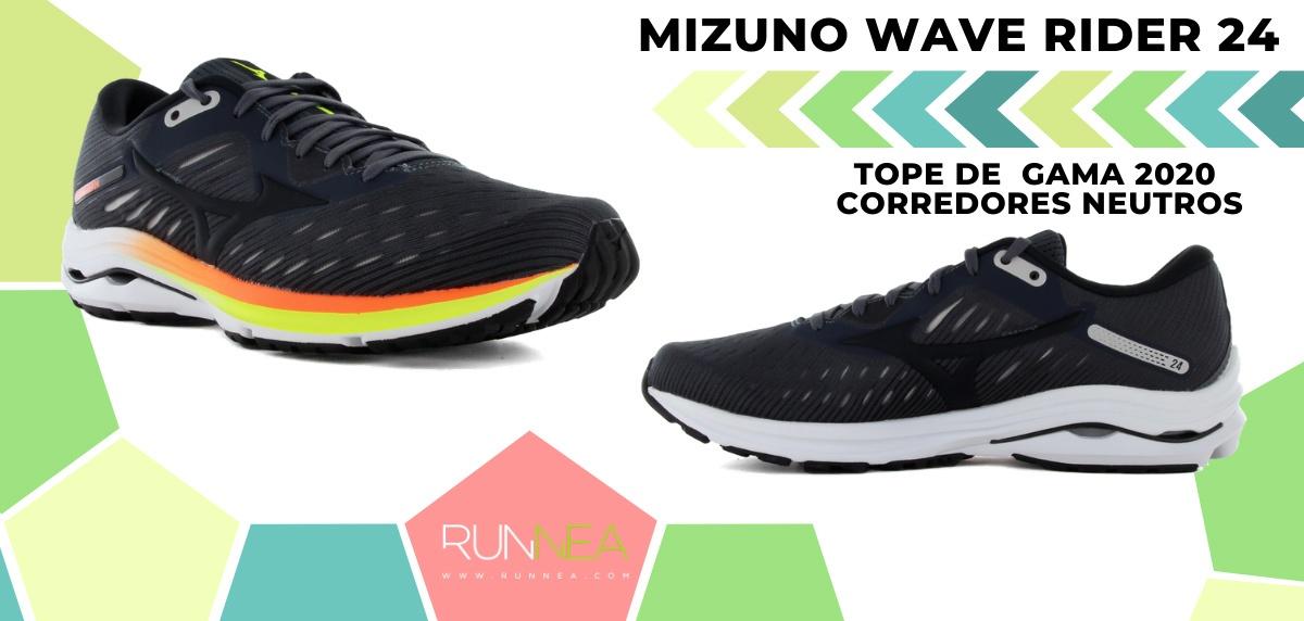 Las zapatillas de running de máxima amortiguación 2020 - Mizuno Wave Rider 24