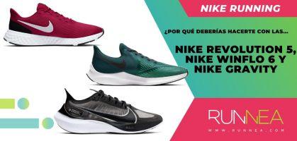 Las 5 razones por las que deberías comprar las Nike Revolution 5, Nike Winflo 6 y Nike Zoom Gravity