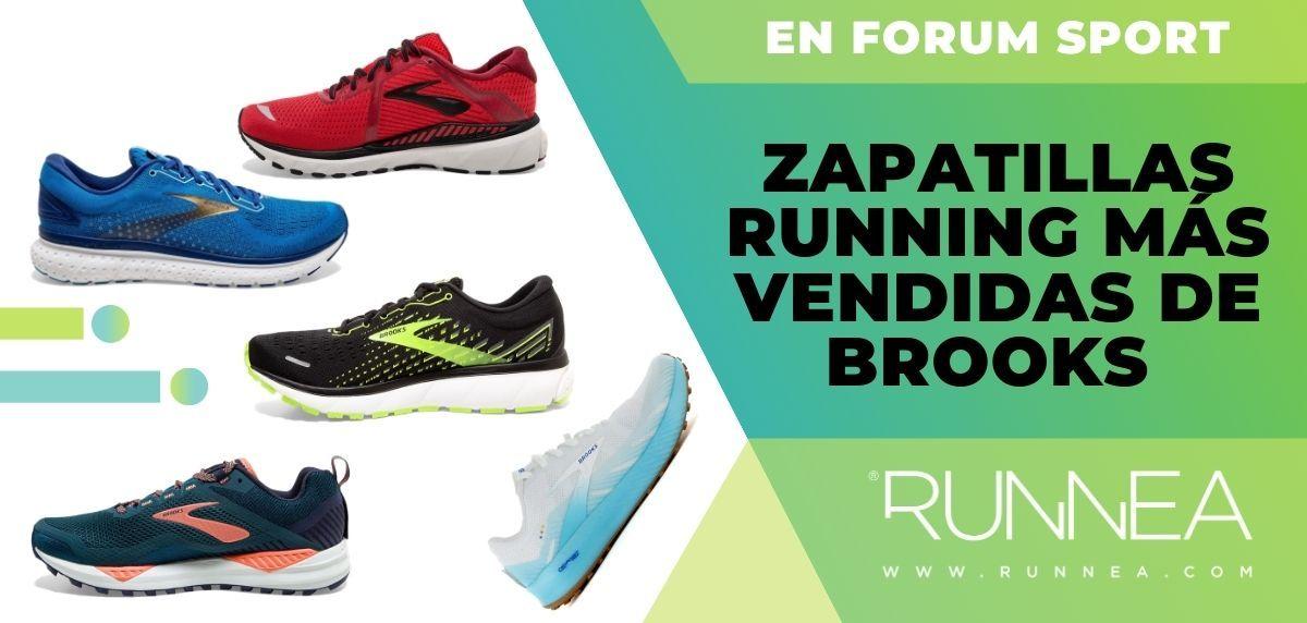 La base de datos Continente subtítulo  5 zapatillas de running de Brooks más vendidas en Forum Sport