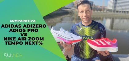Comparativa Nike Air Zoom Tempo Next% vs adidas Adizero Adios Pro: ¿Qué zapatilla voladora elegir?