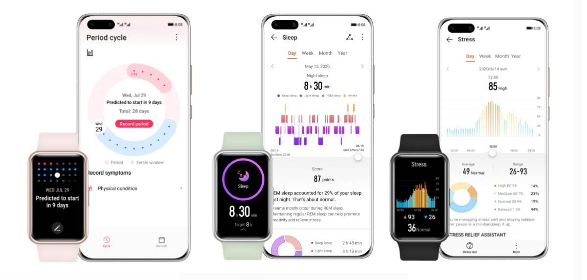 Huawei Watch Fit, especificaciones técnicas