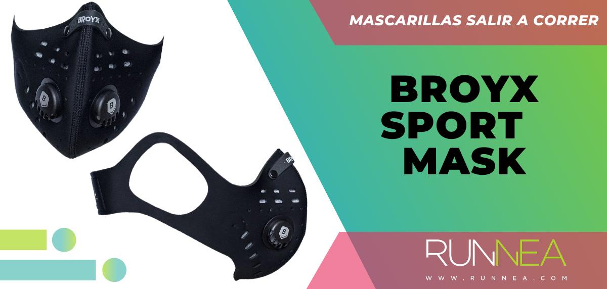 Las mejores mascarillas para salir a correr - Broyx Sport mask