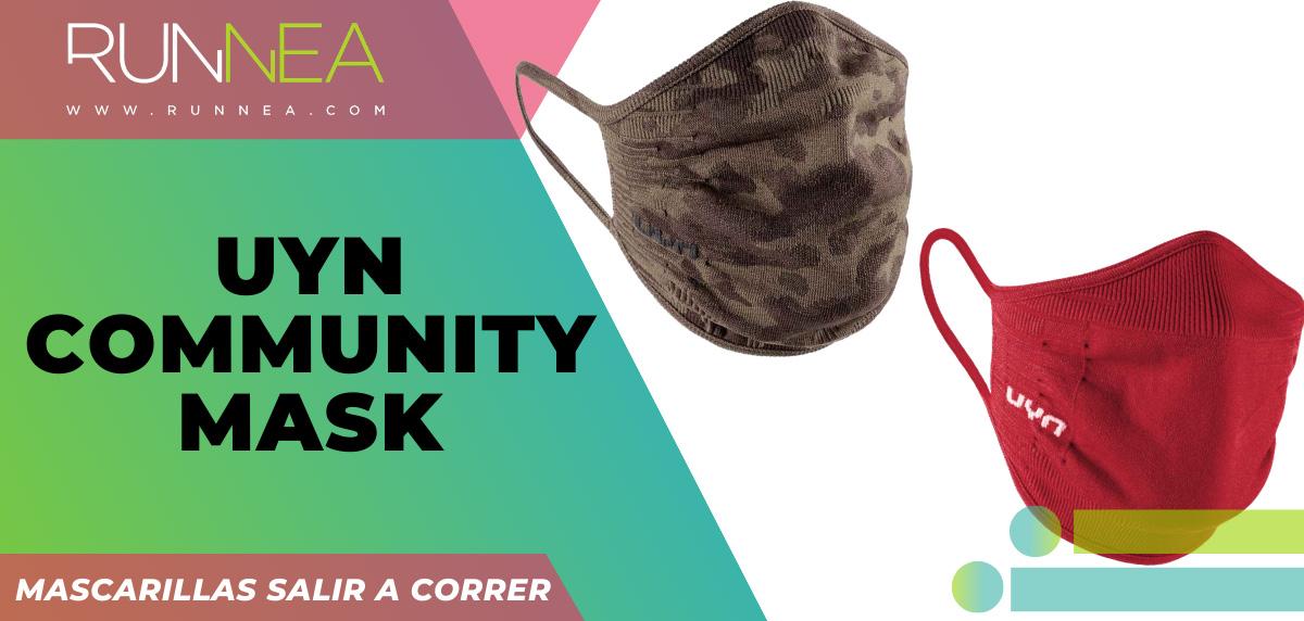 Las mejores mascarillas para salir a correr - UYN Community mask