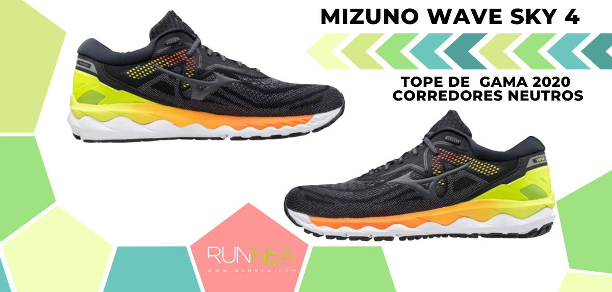 Mejores zapatillas running tope de amortiguación 2020 para corredores neutros - Mizuno Wave Sky 4
