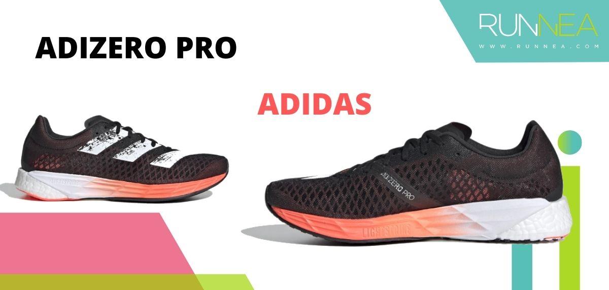 Las zapatillas de running con placa de carbono más destacadas, adidas Adizero Pro