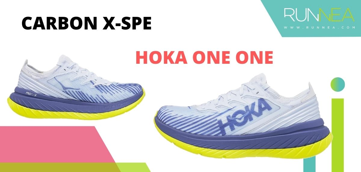 Las zapatillas de running con placa de carbono más destacadas, HOKA ONE ONE Carbon X-SPE