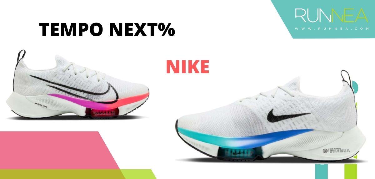 Las zapatillas de running con placa de carbono más destacadas, Nike Tempo Next%
