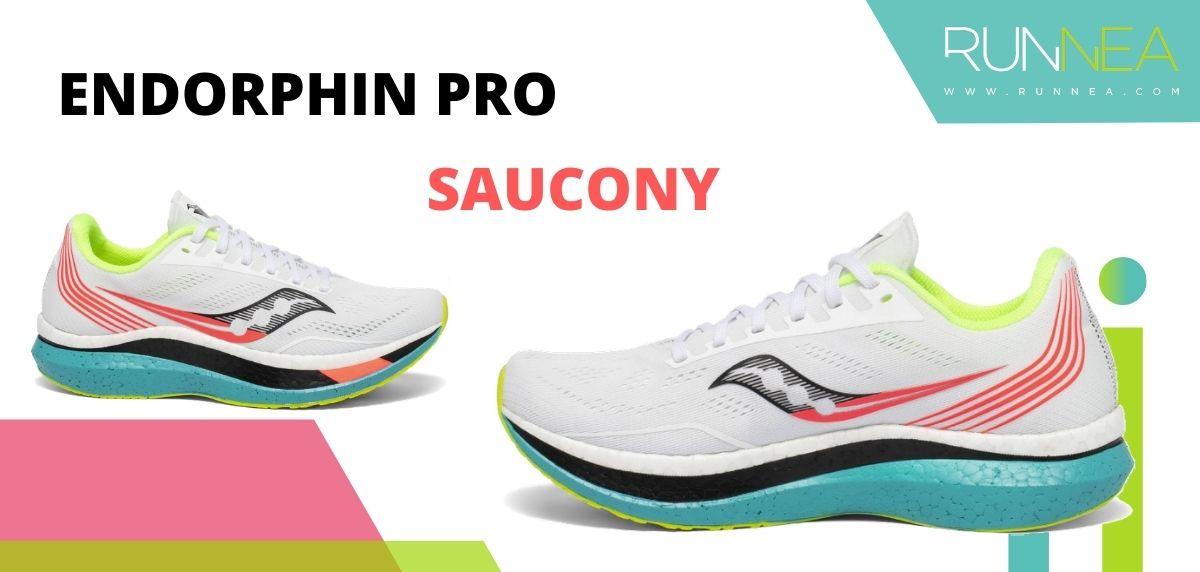 Las zapatillas de running con placa de carbono más destacadas, Saucony Endorphin Pro