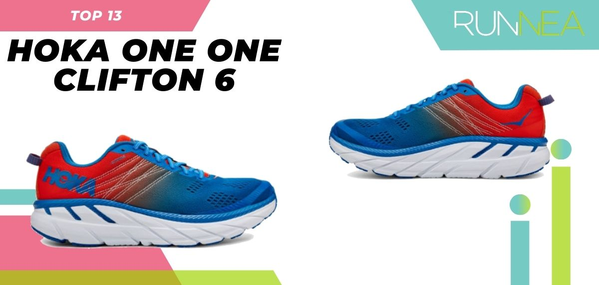 La scarpa da corsa più venduta su asfalto quest'estate 2020, HOKA ONE ONE Clifton 6
