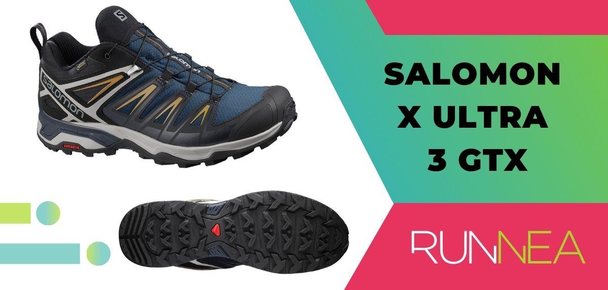 Las 15 mejores zapatillas de trekking 2020, Salomon X Ultra 3 GTX