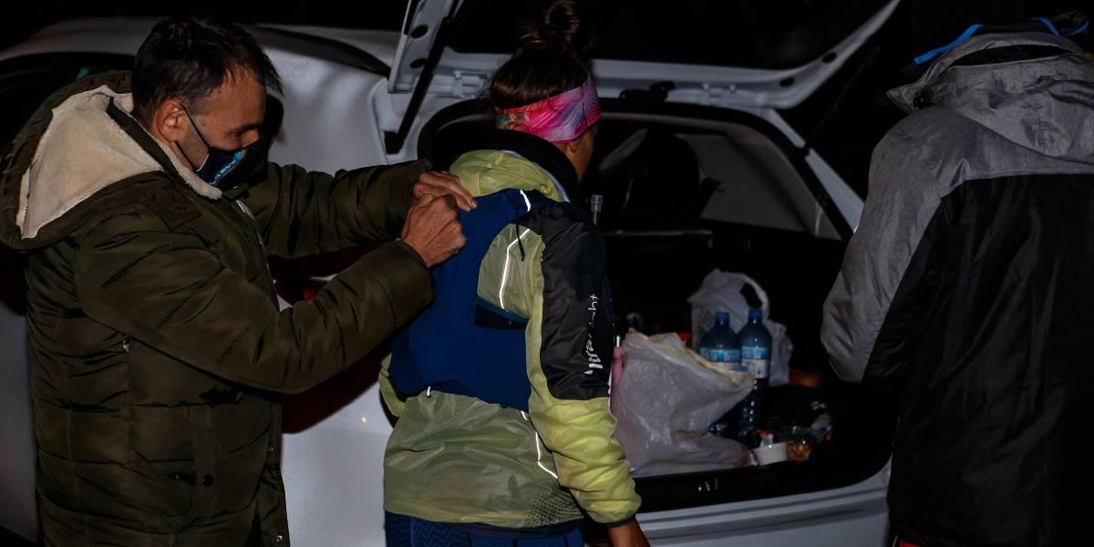 Reto solidario Hiru Haundiak: Crónica de Lexuri Crespo, primer avituallamiento