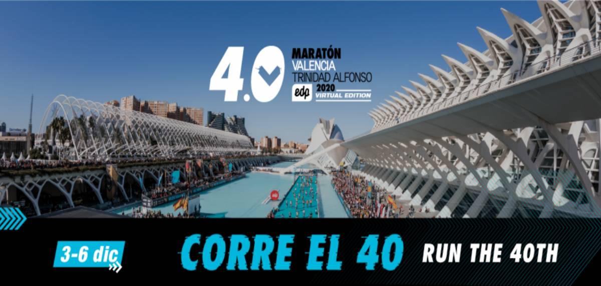 Las mejores carreras virtuales para correr lo que queda de 2020, 4.0 Maratón Valencia Trinidad Alfonso EDP Virtual Edition 2020
