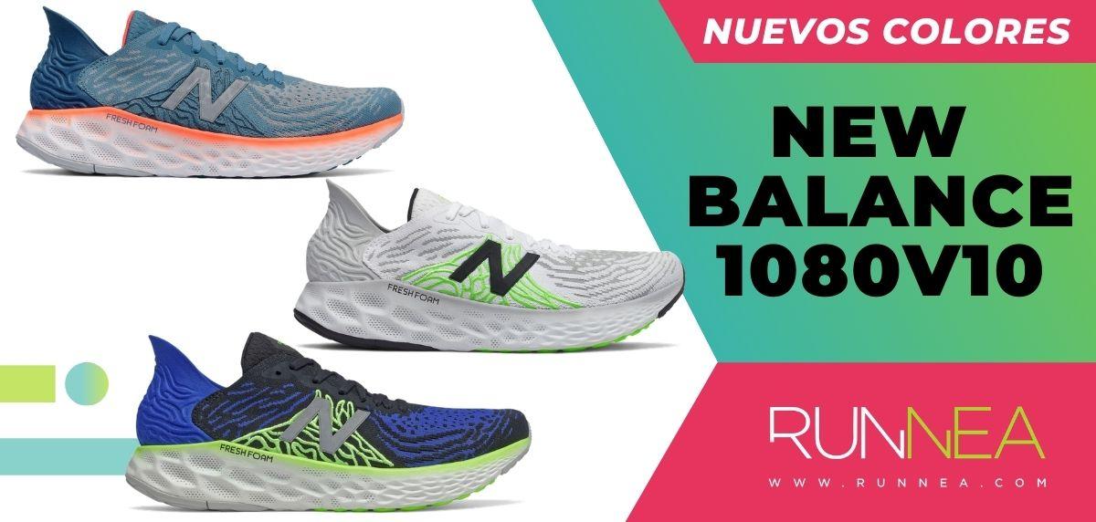 Llegan los nuevos colores de las New Balance 1080v10, ¿con cuál te quedas? Colores disponibles