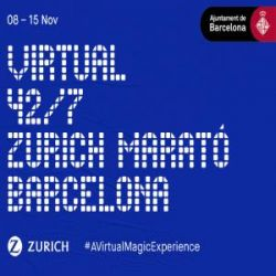 Cartel - Virtual 42/7 Zurich Marató Barcelona 2020