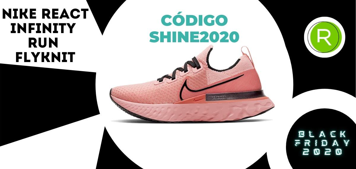 Nike Black Friday, promoción especial del -25% EXTRA en zapatillas running para mujer - Nike React Infinity Run Flyknit
