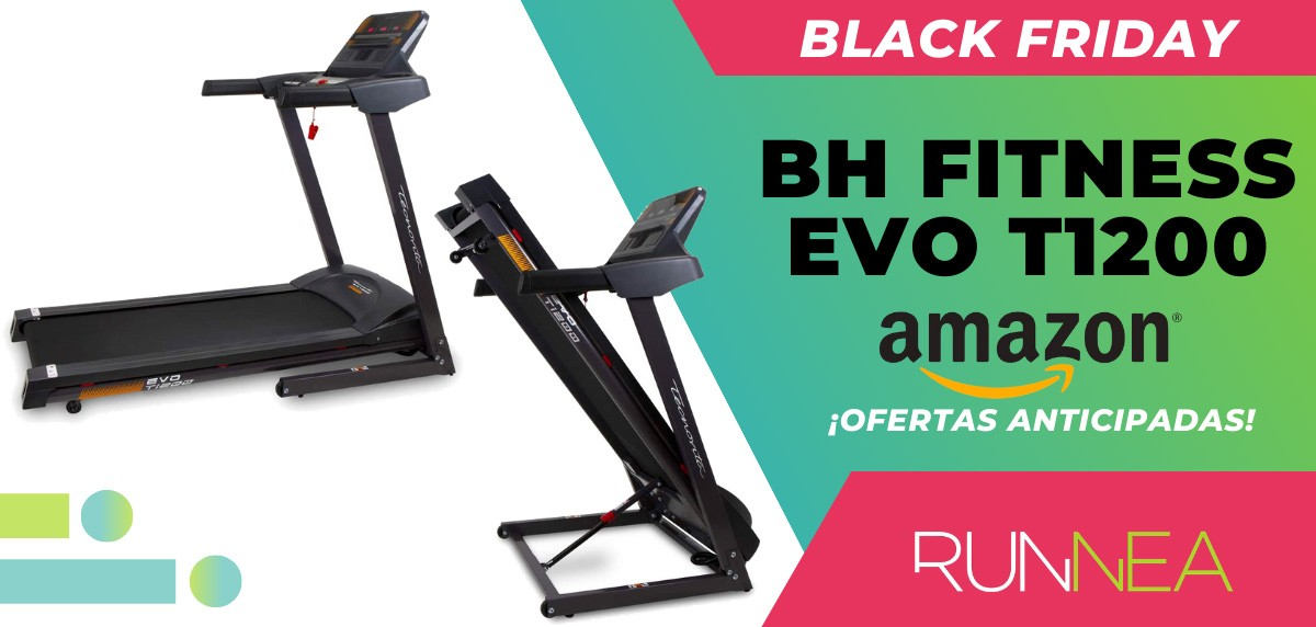 10 ofertas Black friday 2020 Amazon anticipadas para runners - BH Fitness EVO T1200 cinta de correr