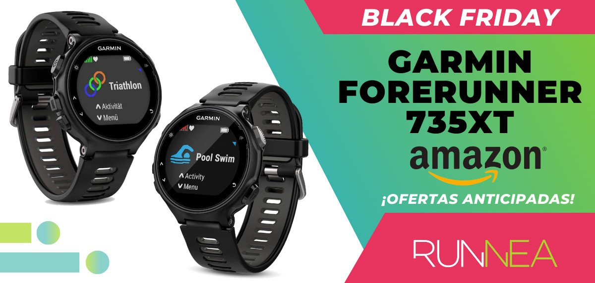 10 ofertas Black friday 2020 Amazon anticipadas para runners - Garmin Forerunner 735XT