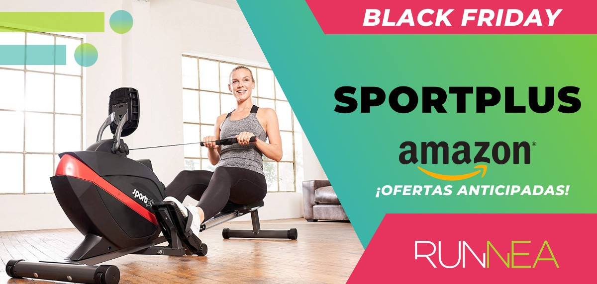 10 ofertas Black friday 2020 Amazon anticipadas para runners - máquina de remo SportPlus