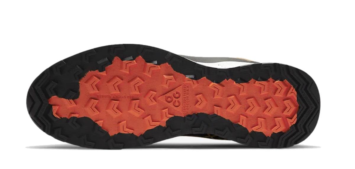 Zapatilla de la semana, Nike ACG Air Nasu Gore-Tex, suela