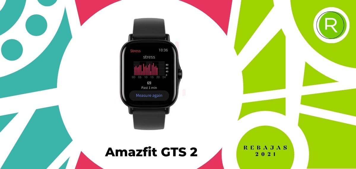 Smartwatch con GPS y pulsómetros, Amazfit GTS 2