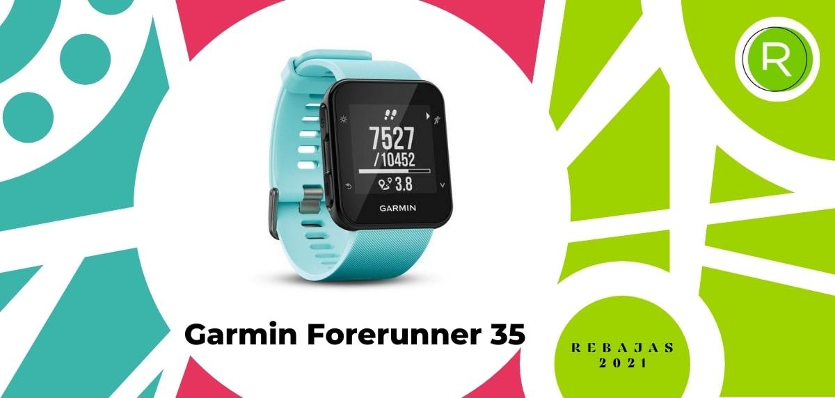 Smartwatch con GPS y pulsómetros, Garmin Forerunner 35