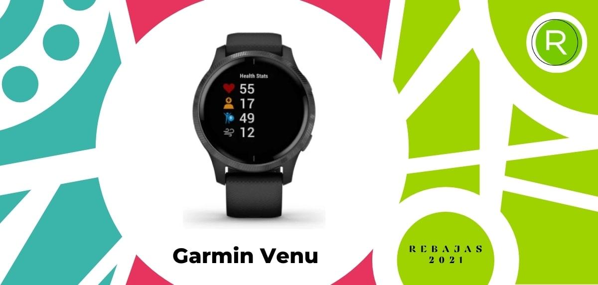 Smartwatch con GPS y pulsómetros, Garmin Venu
