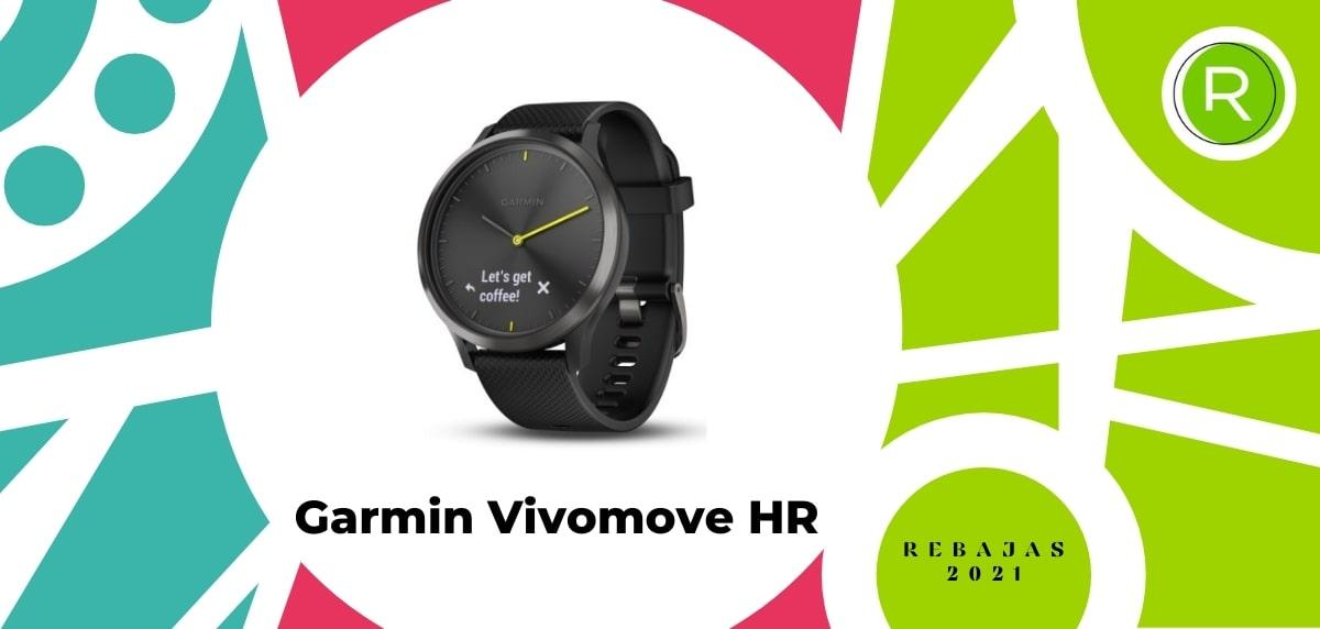 Smartwatch con GPS y pulsómetros, Garmin Vivomove HR