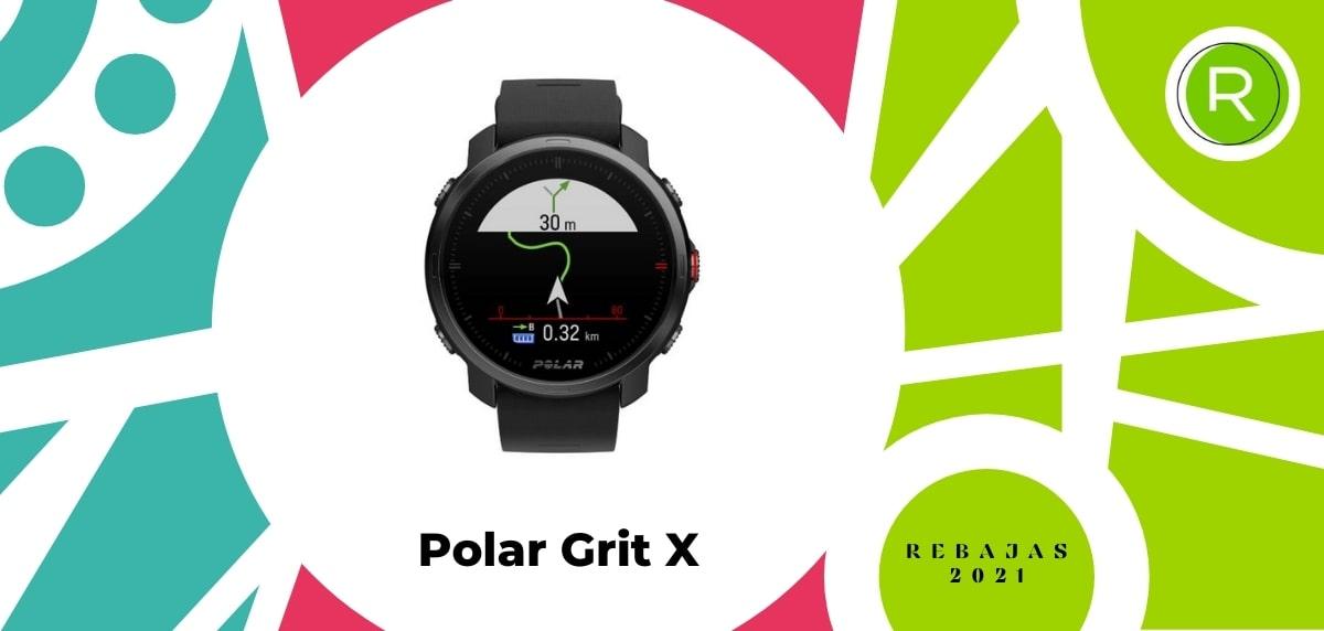Smartwatch con GPS y pulsómetros, Polar Grit X