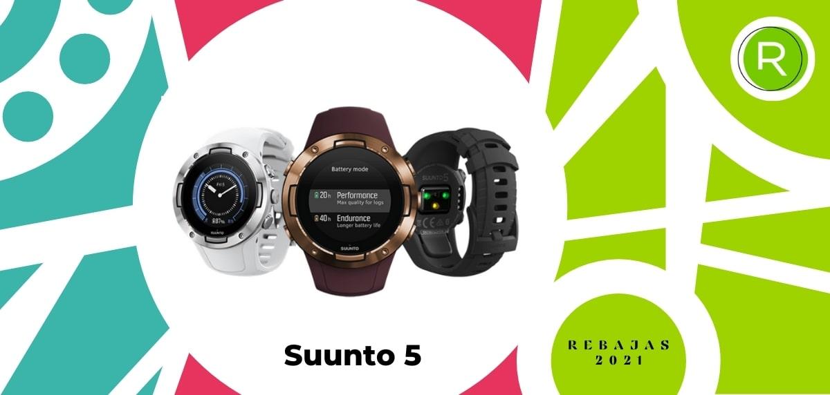 Smartwatch con GPS y pulsómetros, Suunto 5