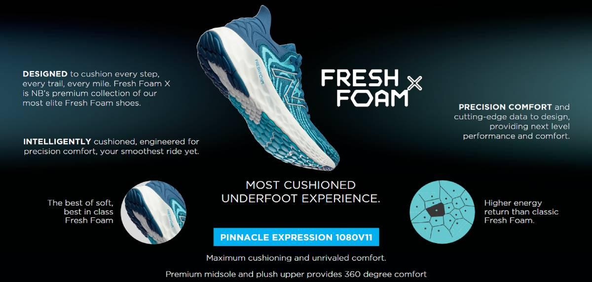Zapatilla de la semana: New Balance Fresh Foam 1080v11, máximo confort
