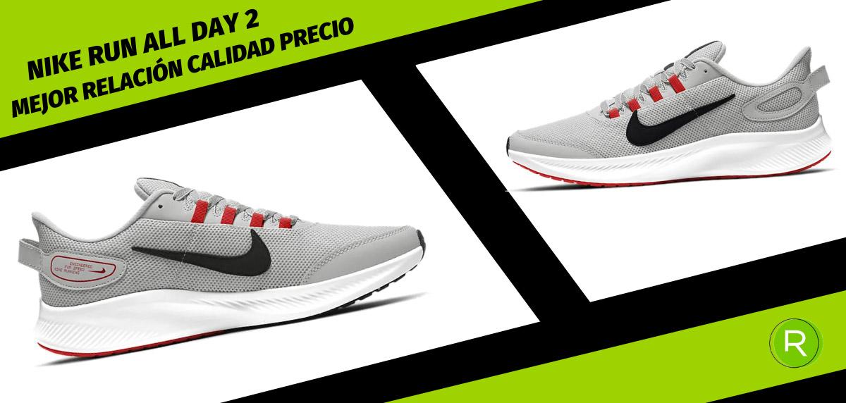 8 zapatillas Nike para hombre con mejor relación calidad-precio - Nike Run All Day 2
