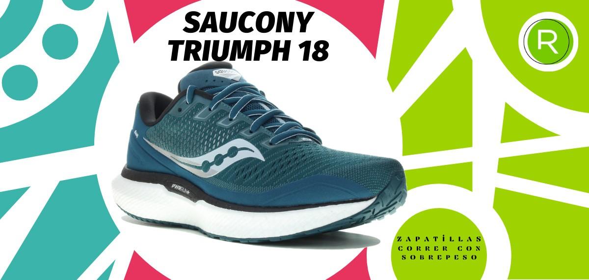 Mejores zapatillas para correr con sobrepeso - Saucony Triumph 18