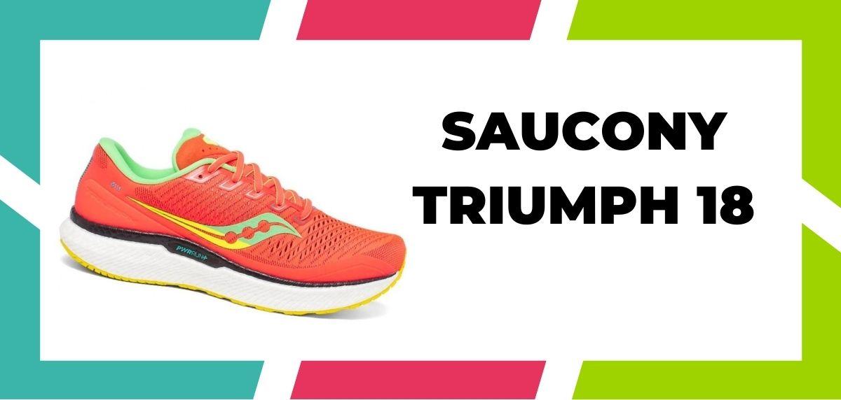 chaussures de running pour coureurs à pieds larges, Saucony Triumph 18