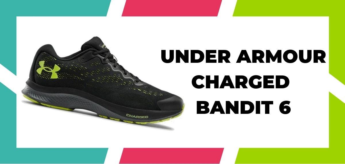 Zapatillas de running para corredores de pies anchos, Under Armour Charged Bandit 6