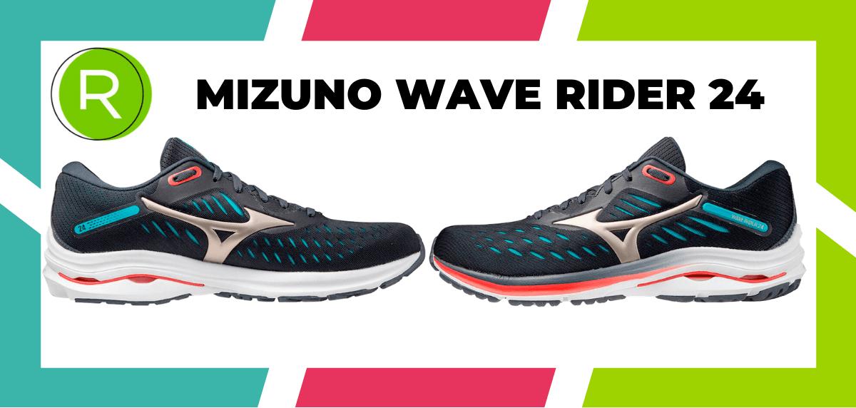 Les meilleures chaussures de running pour courir un marathon - Mizuno Wave Rider 24