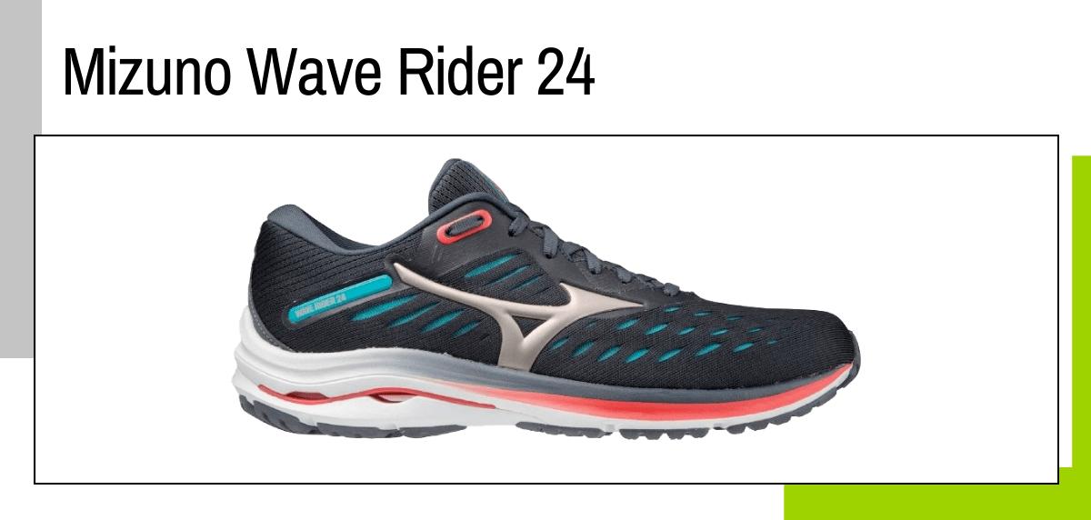 Las mejores ideas para regalar a un papá runner - zapatillas running: Mizuno Wave Rider 24