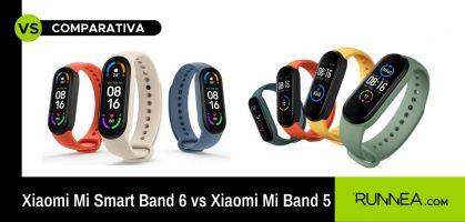 Xiaomi Mi Band 6 vs Xiaomi Mi Band 5: comparativa de pulseras de actividad