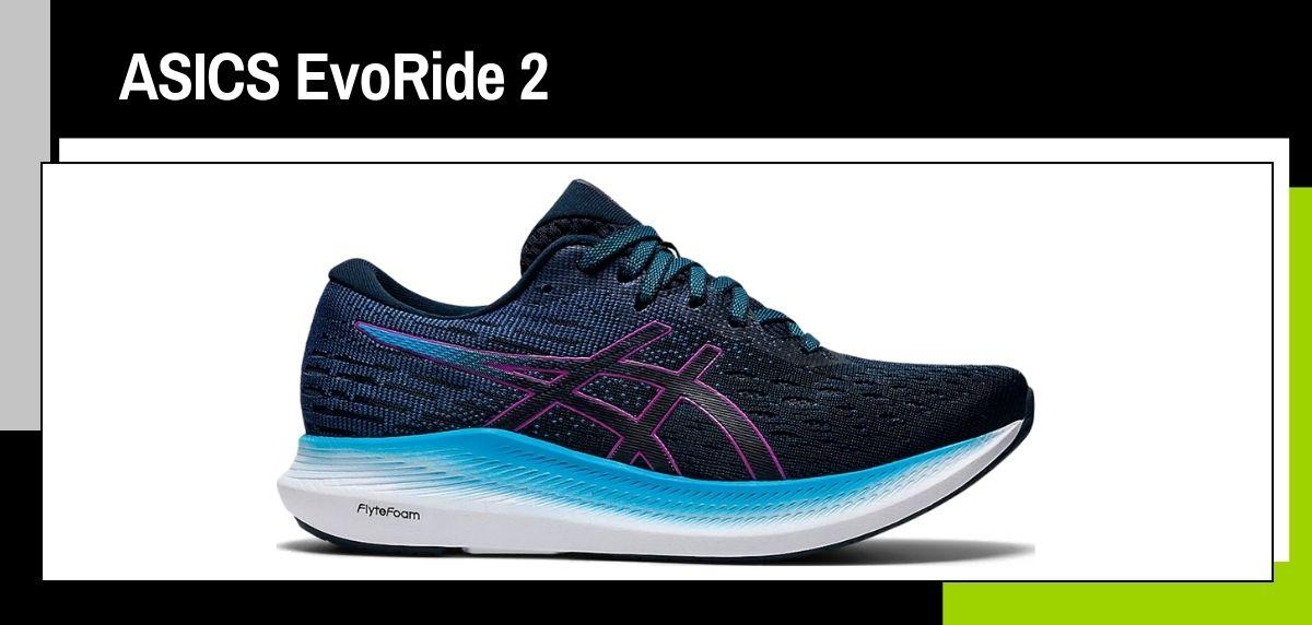 Las mejores zapatillas running 2021, ASICS EvoRide 2