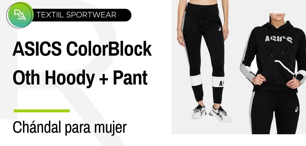 Chándals mujer - ASICS Colorblock Oth Hoody + Pant