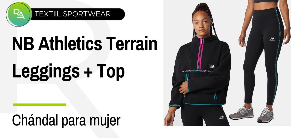 Chándals mujer - Top NB Athletics Terrain Reverse 1/4 Zip + Leggings NB Athletics Terrain
