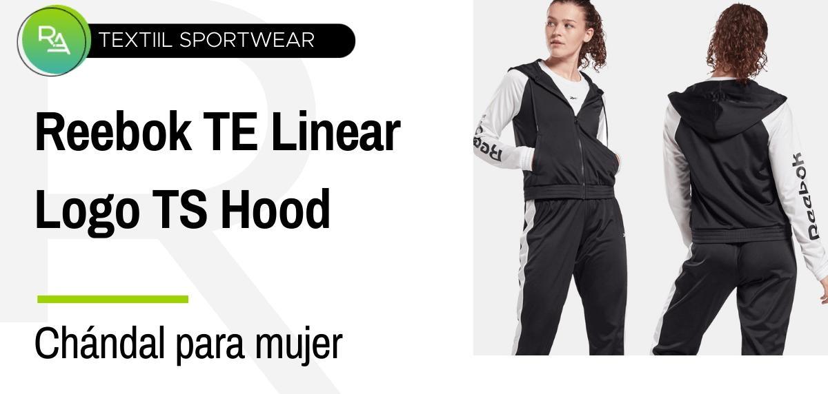 Chándals mujer - Reebok TE Linear Logo TS Hood