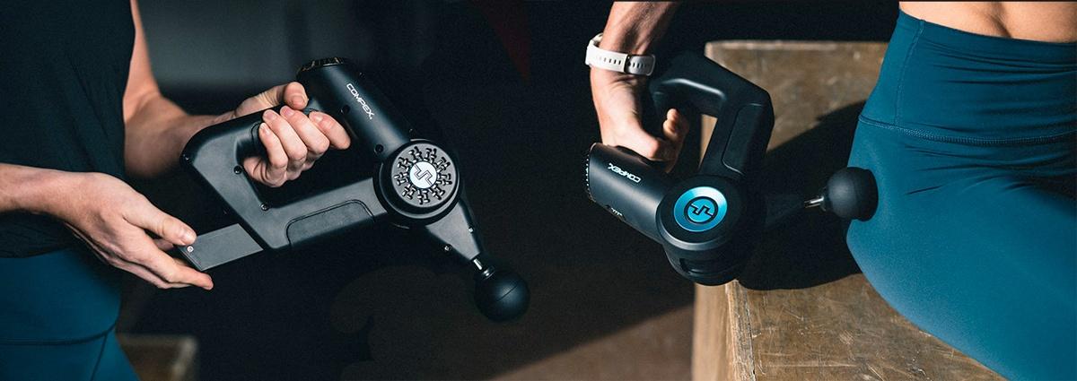 pistola de masajes Compex Fixx 2.0, terapia percusiva dirigida - foto 3