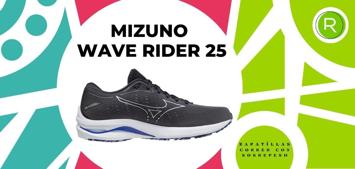 Las 15 mejores zapatillas para correr con sobrepeso, Mizuno Wave Rider 25