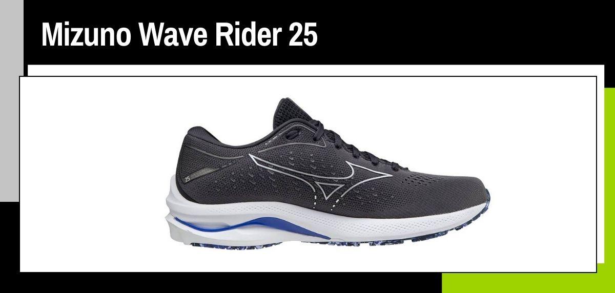 Mejores zapatillas running 2021, Mizuno Wave Rider 25